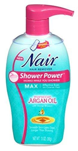 Nair Hair Remover Shower Power Max Argan Oil 13oz Pump by Nair