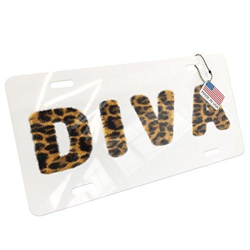 NEONBLOND Diva Cheetah Cat Animal Print Aluminum License Plate