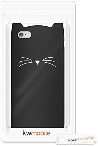kwmobile Funda Compatible con Apple iPhone 6 Plus / 6S Plus - Carcasa de Silicona y con Gato - Cover Trasero de móvil
