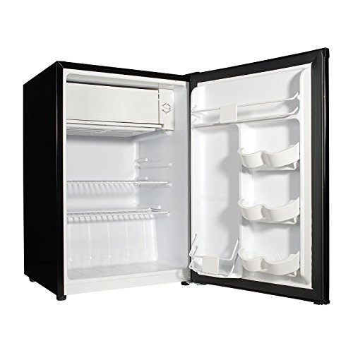 2.7 cubic foot stainless look compact dorm refrigerator by Galanz