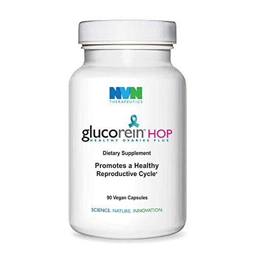 Glucorein HOP - Healthy Ovaries Plus - Fertility Supplement - Strong Reproductive Health, Pregnancy, Conception, Acne, Weight Loss, Ovulation, Hair Loss Alopecia, Fatigue - 90 Capsules - for Women