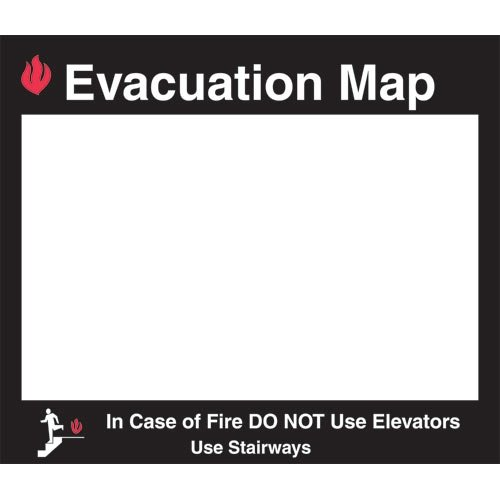 Brady 102853 Sign Holder, Evacuation Map