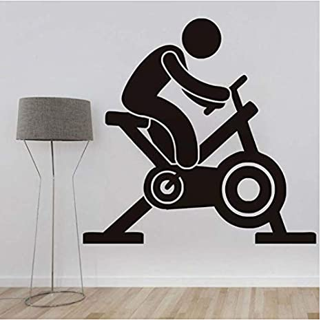 Calcomanías De Pared Para Bicicleta De Spinning Calcomanías De ...