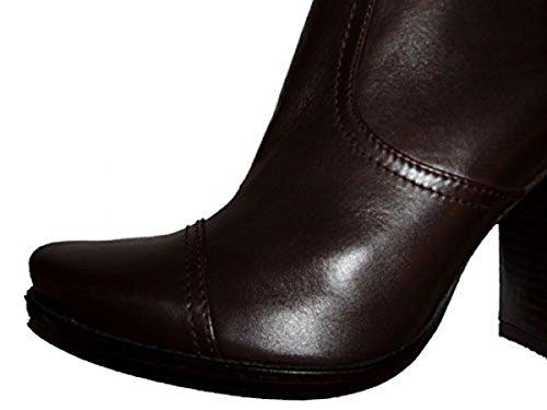 Pura Lopez Damen Stiefel Glatt Leder R107 braun Braun