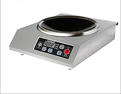 3500W Commercial Countertop Induction Wok Cooktop