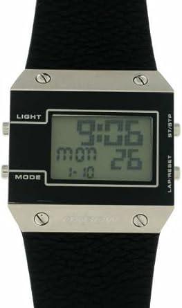 Homme Oxbow En Cuir Digitale Bracelet 4517602 Quartz Noir Montre Multifonctions b7yYf6g