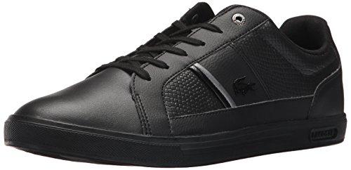 Lacoste Men's Europa 417 1 Sneaker, Black, 10 M US