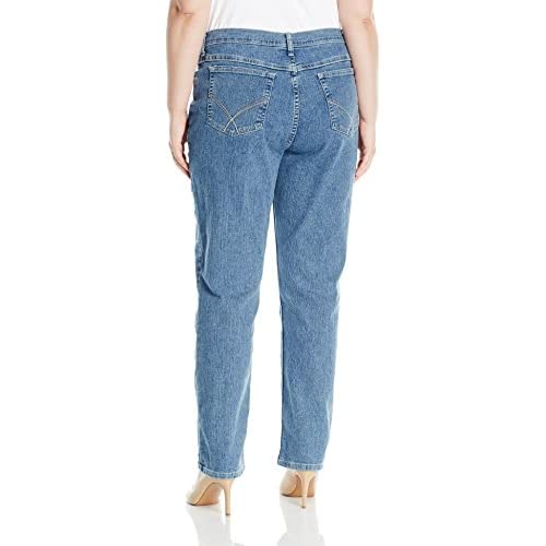 ad9594f7 delicate Riders by Lee Indigo Women's Plus Size Joanna Classic 5 Pocket Jean