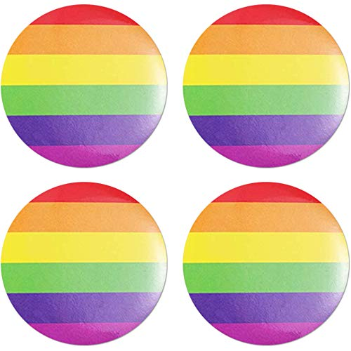 Mayam 4 Pieces Rainbow Button Pins Pride Pins Buttons Pinback Buttons Lapel Pins Decoration