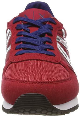 Donna red Rosso Shoes Lace Sneaker Armani 00619 silver Microfiber Basse Da Mir Exchange Ginnastica Up Scarpe qgCzP