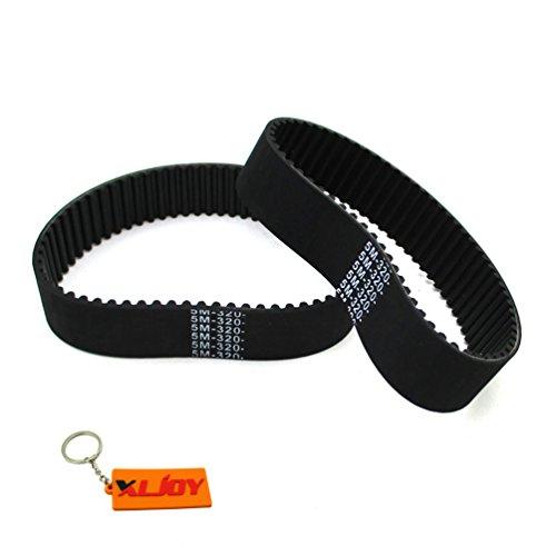 XLJOY 2pcs 5M-320-25 Gas Scooter Drive Clutch Belt for Bladez Moby S X SX 23cc - ()