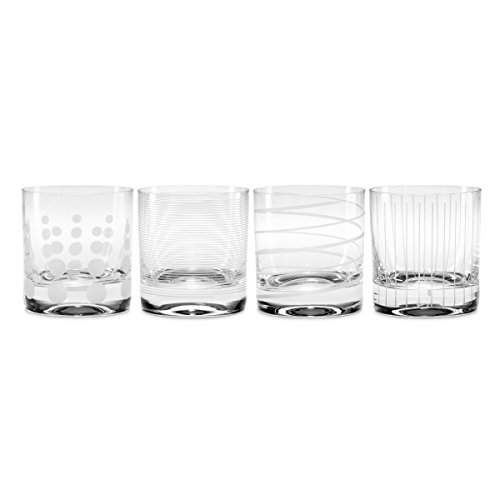 Mikasa Cheers Double Old Fashioned Glass, 12.75-Ounce, Set of 4 (Collection Cheers Mikasa)