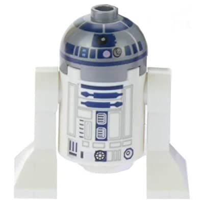 LEGO Star Wars Minifigure R2-D2 Astromech Droid Lavender Dots (75136): Toys & Games