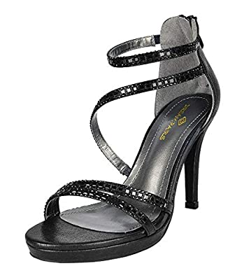 DREAM PAIRS Women's Show High Heel Dress Pump Sandals