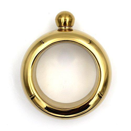 YDDDD Bracelets Flask Hip Small Stainless Steel Liquids Wine Bangle Bracelet For Women (3.5 oz Gold)