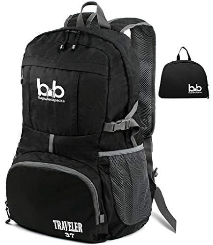 Foldable Backpack – Urban Backpack – Water Resistant Hiking Daypack – Air Traveling Carry on Backpack - Waterproof Polyester Foldable Daypack - Multipurpose Daypacks