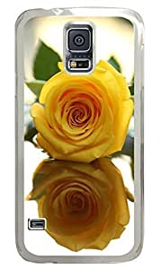 Yellow Rose Clear Hard Case Cover Skin For Samsung Galaxy S5 I9600