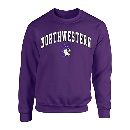 Northwestern Wildcats Crewneck Sweatshirt Arch Purple - XL