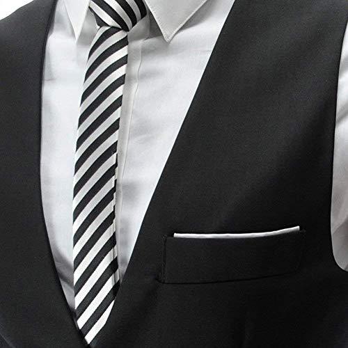 Taglie Da Formale Slim A Vest Sleeveless Senza Uomo V Abiti Scollo Unita Tuta Tinta Monopetto Schwarz Maniche Casual Giacca Con Fit Comode XwdEqXPZ