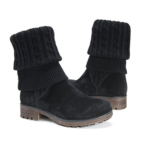 Pictures of MUK LUKS Women's Kelby Boots Fashion Black 6 M US 5