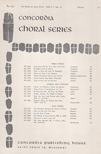 The Blood of Jesus Christ, the Son of God, Cleanses Us from All Sin (SAB or TBB Choral Sheet Music)