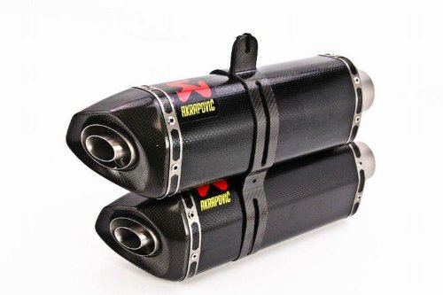 Akrapovic - S-D10SO6-ZC - Slip-On, Dual Hexagonal Carbon Fiber Muffler