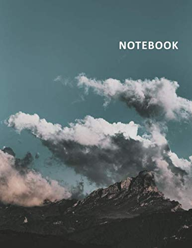 College Ruled Notebook: Clouds and Mountains Compact Student Composition Book Daily Journal Diary Notepad for notes on how to plan a backpacking trip