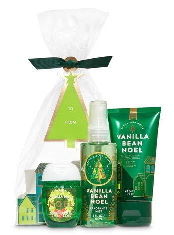 Bath and Body Works VANILLA BEAN NOEL Holiday Traditions Mini Gift Set. Ultra Shea Body Cream (2.5 oz), Fine Fragrance Mist (3 fl oz), a PocketBac Hand Sanitizer (1 fl oz) ()
