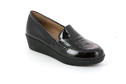 Grünland VATI antracita zapatos mocasín SC2631 zeppetta Grigio