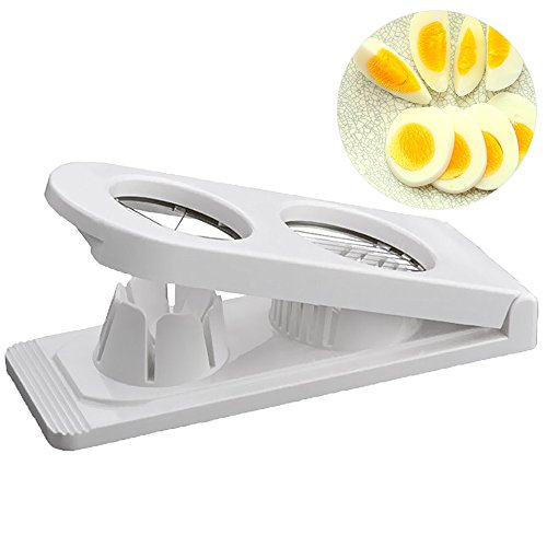 Bseen Egg Slicer BPA 2 IN 1 Egg Dicer & Wedger with Stainless Steel for Cutting Egg Salad Mushroom Strawberry