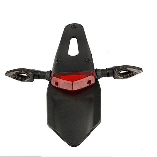 Universal Motorcycle LED Enduro Fender Brake Tail Light Turn Signal Light Custom Scooter Offroad Dual Sport bike Street - Lights Sport Dual
