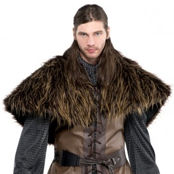 Fur Costumes For Men (Amscan Gracious God & Goddess Party Furry Shoulder Cape (1 Piece), One Size, Brown)