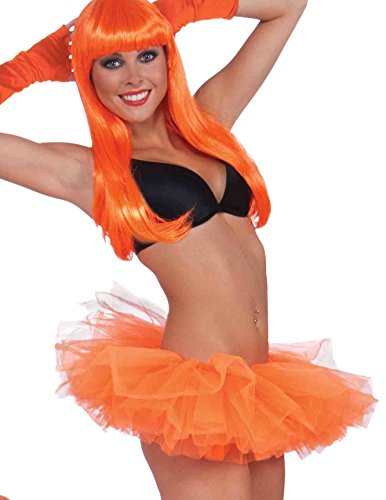 Showgirl Costumes Online (Forum Novelties Women's Neon Adult Costume Tutu, Orange, One Size)