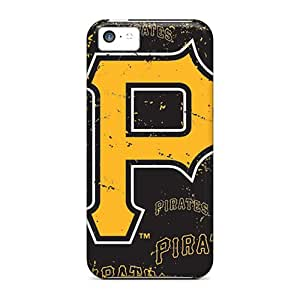 Protective Tpu Case With Fashion Design For Iphone 5c (pittsburgh Pirates)