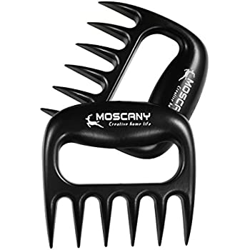 Moscany Set of 2 Meat Claws for Pulled Meats - BBQ Meat Handler Forks Shredder Claws