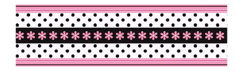 York Wallcoverings Candice Olson Kids Daisy Ribbon Border, Pink/Black
