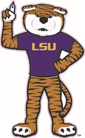 6 inch Mike The Tiger Decal LSU Tigers Louisiana State University Logo LA  Removable Wall Sticker 7b6f77c89