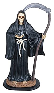 Major-Q G90324.58 24 Resin Black Santa Muerte Our Lady of Holy Death Catholicism Statue Collectible Figurine