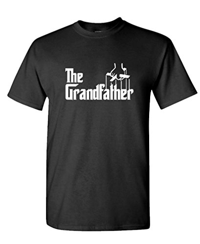 THE GRANDFATHER Funny Father's Day Spoof - Mens Cotton T-Shirt, L, Black