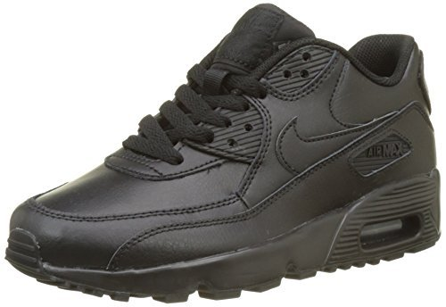 001 Air - Nike 833412-001 Kid's Air Max 90 Leather Running Shoes, Black/Black, 5.5 M US Big Kid