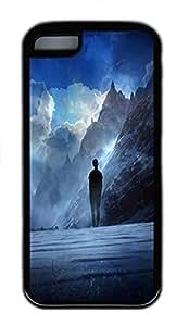 for iphone 5c Case Vivid Imagination TPU Custom for iphone 5c Case Cover Black