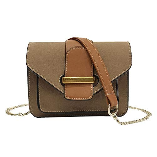 Cuadrado Brown Dark Moda Jixdf Bag Messenger De Bolso Pequeño Mujer Cadena Contraste Matorral qnp7YpWO