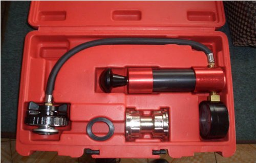 Radiator Pump Pressure Leak Tester Checker and Cap Tester w/ Case 30 PSI by FORGEMAX (Image #1)