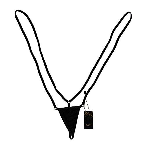 G-string Suspenders - Esquki Women Sling Thong Bikini G String Lingerie Strap Bodysuit Underwear (Black)