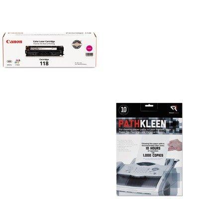 2660b001 Toner - KITCNM2660B001REARR1237 - Value Kit - Canon 2660B001 118 Toner (CNM2660B001) and Read Right PathKleen Printer Roller Cleaner Sheets (REARR1237)