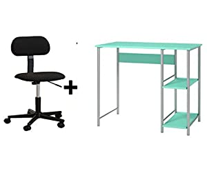 Mainstays Basic Student Speramint Desk, Bundle Set with Black Chair