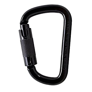 Fusion Climb Tacoma Steel Auto Lock D Shaped with Key Nose Carabiner