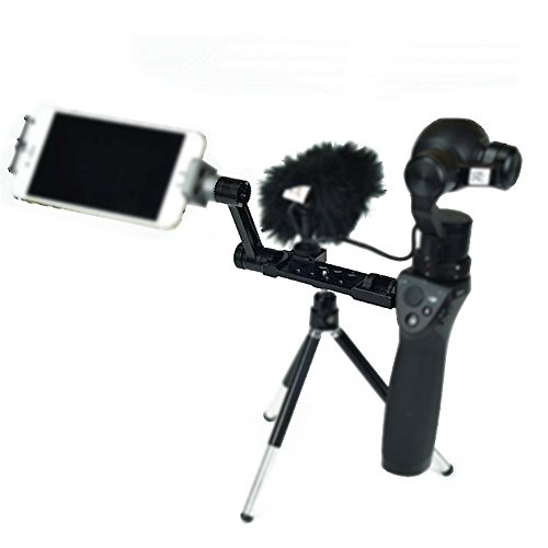 Gigibon Gigibon DJI OSMO Upgraded Accessory Kits: Straight Extension Arm+Extended Universal Mount for Osmo Handheld 4K Camera and 3-Axis Gimbal, Black ()