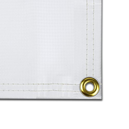 Hot Sale Wall Blank White  X    X  Foot   Oz Vinyl - Vinyl banners with grommets