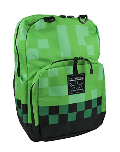 Minecraft-Mochila-Verde-verde-talla-nica